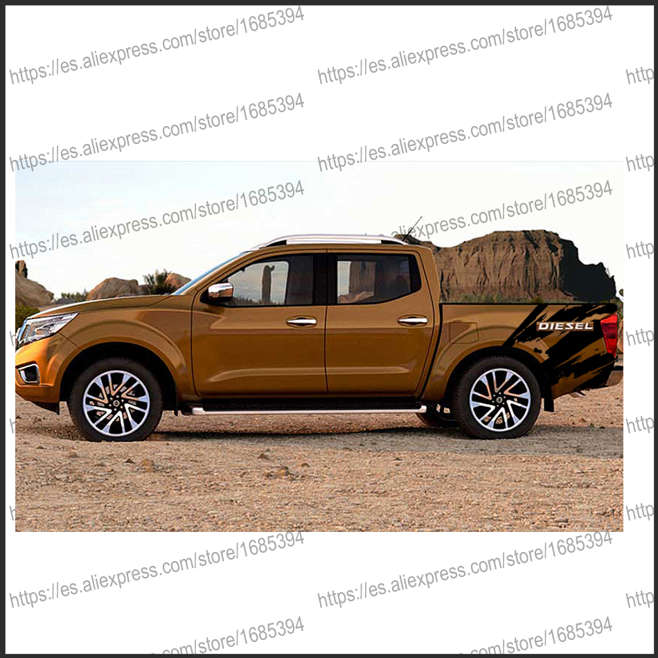 free shipping 2 PC body rear tail side graphic vinyl for NAVARA NP300 2015 sticker 4pc mudslinger body rear tail side graphic vinyl decals for ford ranger 2012 2013 2014 2015 2016 sticker