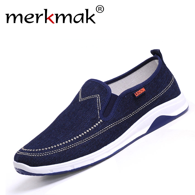 Merkmak New Handmade Men Flats Shoes Man's Canvas Shoes Fashion Casual Loafers Shoes Men Slip On Hot Sale Leisure Zapatos Hombre 2016 new fashion comfortable casual walking loafers flats chaussure homme zapatillas hombre sales canvas tenis slip on men shoes