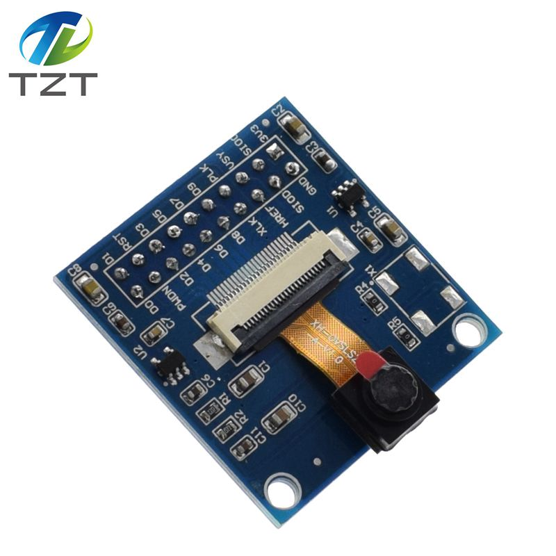 OV7670 VGA Camera + FIFO Buffer AL422B Module, 640x480 0.3MP CMOS, I2C  OV7670 Module With Adapter Board Contains The Camera