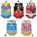 2015 macacão de verão do bebê girls & boys clothing crianças vest & one-pieces corpo para crianças dos desenhos animados roupa conjuntos macacão de bebê