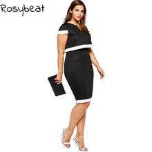 Plus Size Women Real Two Piece Set Dress Vestidos 6XL 5XL Big Large Size Office Lady Black Dress 4XL 3XL Female Bodycon Clothing