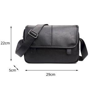 Image 3 - موضة جديدة حقيبة حقيبة للذكور حقيبة ساعي الأعمال Crossbody حقائب كتف للرجال العلامة التجارية مصمم حقيبة كمبيوتر محمول عادية
