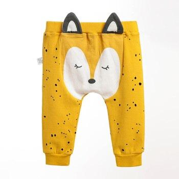 Pantalones de bebé de dibujos animados bebé niño niña PP Pantalones de algodón de primavera y otoño Bebé Pantalones recién nacido lindo caliente de moda de bebé Casual ropa