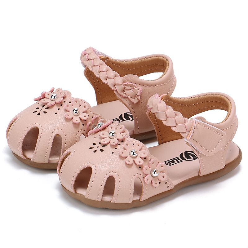Cute Girl Princess Sandals Summer Girl Sandals Toddler Shoes PU Rubber Bottom Slip Flowers Baby Shoes Brand 2019