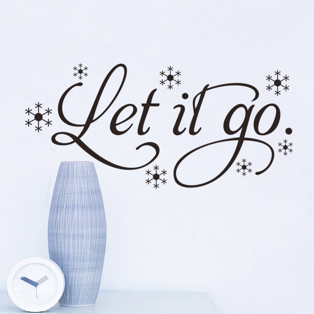 Let It Go Quotes Let It Go Wall Sticker Removable Vinyl Wall Art Frozen Quote