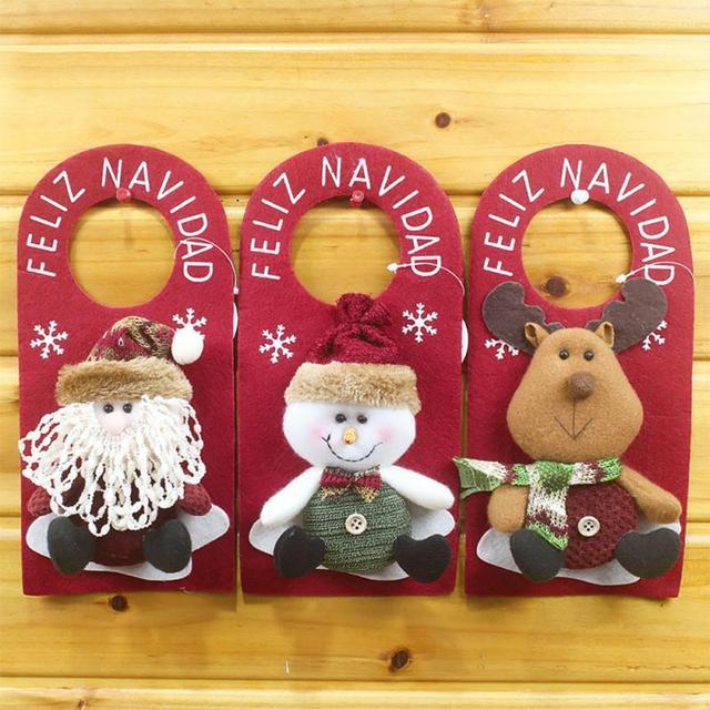 caliente de la navidad de puerta colgar adornos de navidad tree decor pap noel mueco de