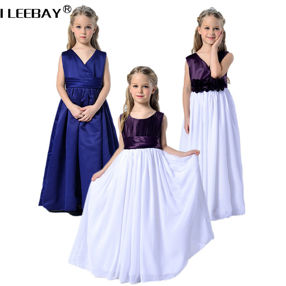 High Quality Summer Girls Princess Dresses Flower Girl Wedding Dress Child Performance Costume Length to Floor Kids Robe Fille summer 2017 new girl dress baby princess dresses flower girls dresses for party and wedding kids children clothing 4 6 8 10 year