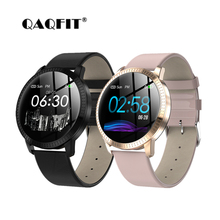 Купить с кэшбэком QAQFIT CF18 Smart Watch OLED Color Screen IP67 Blood Pressure Oxygen Heart Rate Monitor men women Smartwatch smart band