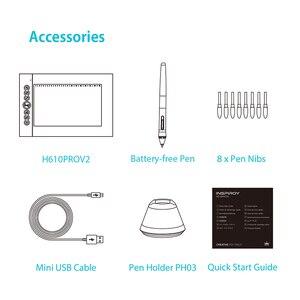 Image 5 - Huion H610プロV2デジタルグラフィックタブレットのアーティストのデザイン描画タブレットチルト機能バッテリーフリーペン錠勝利とmac
