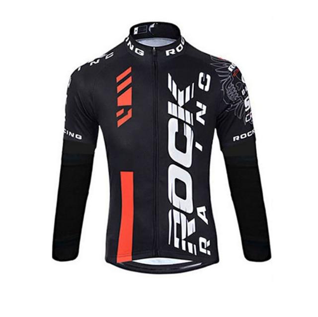 Rock 2019 primavera/outono roupas de ciclismo dos homens conjunto de roupas de bicicleta respirável anti-uv bicicleta wear/manga longa ciclismo jérsei conjuntos 4