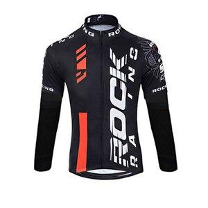 Image 4 - Мужской комплект одежды для велоспорта Rock, весна осень 2019, дышащая одежда для велоспорта с защитой от УФ лучей и длинным рукавом, комплекты из Джерси для велоспорта