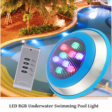 цена на IP68 Pool Light Underwater Swimming Pool Light Ac 12V RGB Multi-Color LED Waterproof Lamp Fountain Lights With Remote Control