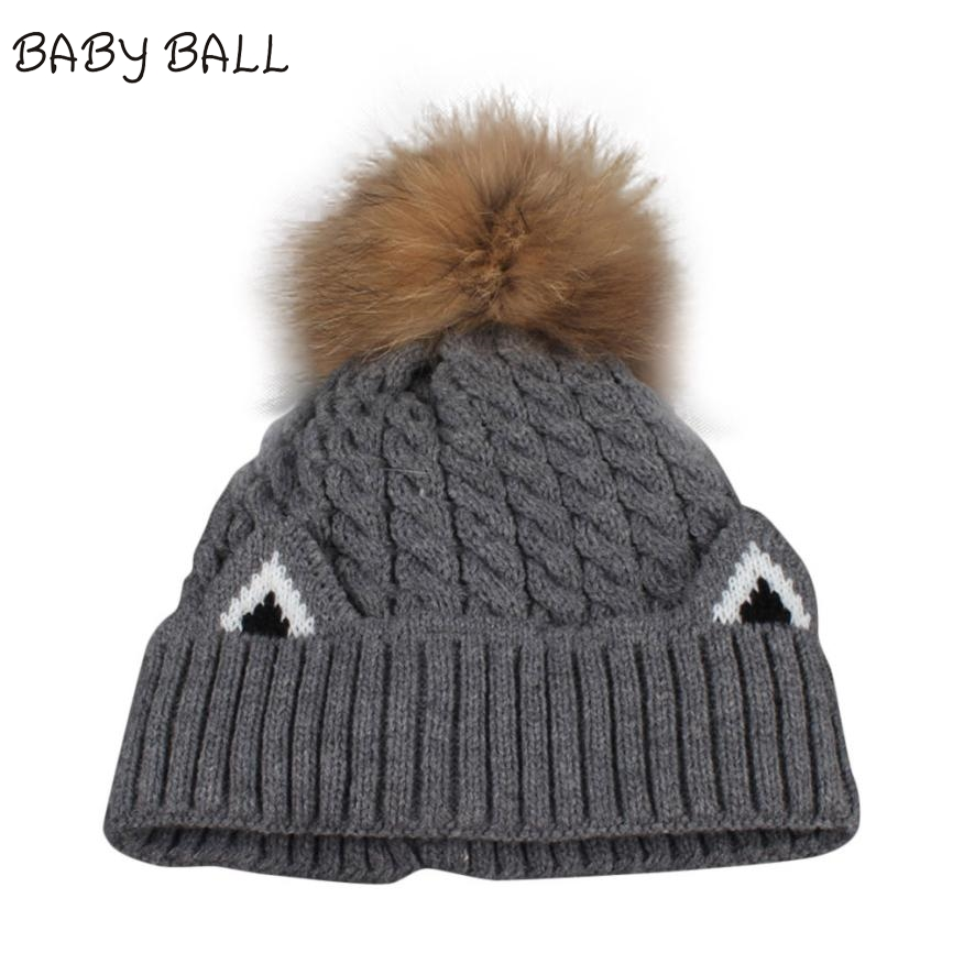 Autumn Winter Beanies Hat Women Knitted Wool Skullies Casual Cap with Raccoon Fox Fur Pompom Solid colors Ski Gorros Cap N14 wool skullies cap hat 10pcs lot 2289