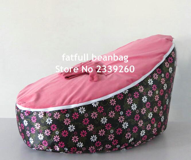 cover only no fillings mini flower baby bean bag chair with pink top layer kids sleeping beanbag pods - Childrens Bean Bag Chairs