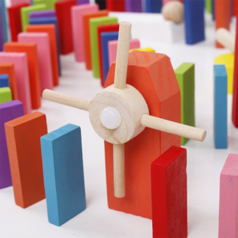 100/300/500 шт дети Цвет сортировать Радуга Дерево Domino блоки Наборы раннего ярких домино Игры развивающие игрушки для детей, подарок