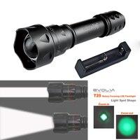 q5 LED Flashlight UniqueFire T20 38mm Lens Mini Torche Zoom 3 Modes Waterproof Lantern+Charger
