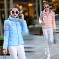 New Winter Ultra Light Warm Down Jacket Fashion Printing Slim Short Slim Design Cotton-padded Jackets Coat Parkas Femme Tops