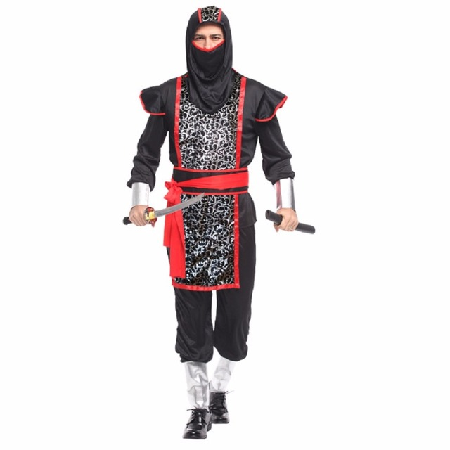 shanghai story halloween cool man stealth ninja costumes with armor japanese samurai suit japanese ninja costume