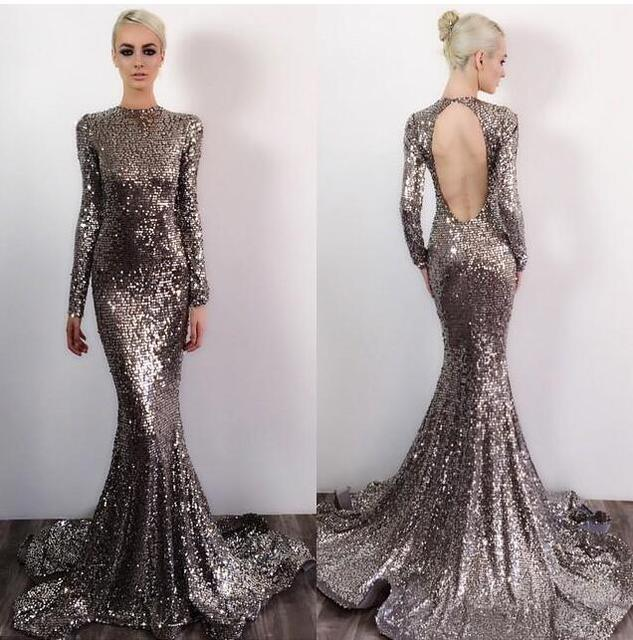 Aliexpress.com : Buy 2017 Bling Michael Costello Backless Prom ...