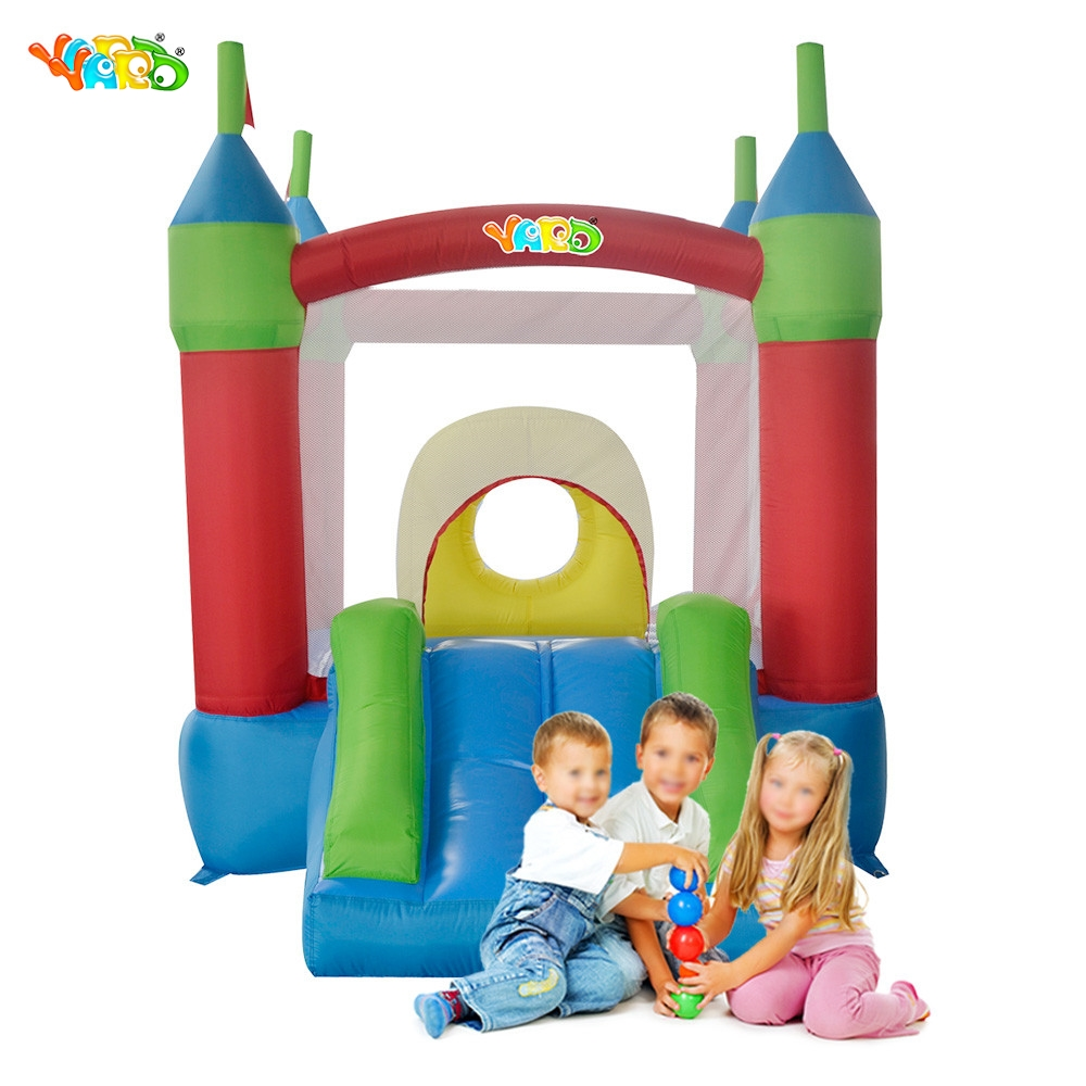 YARD Free Shipping Happy Childhood MIni Inflatable Bouncer Bouncy Castle Jumping Bouncer Combo