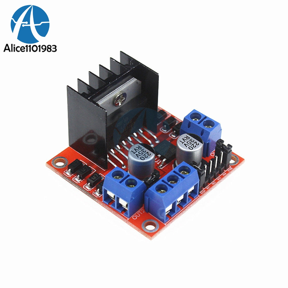 Модуль платы контроллера шагового двигателя L298N, двухканальный модуль драйвера двигателя постоянного тока для Arduino