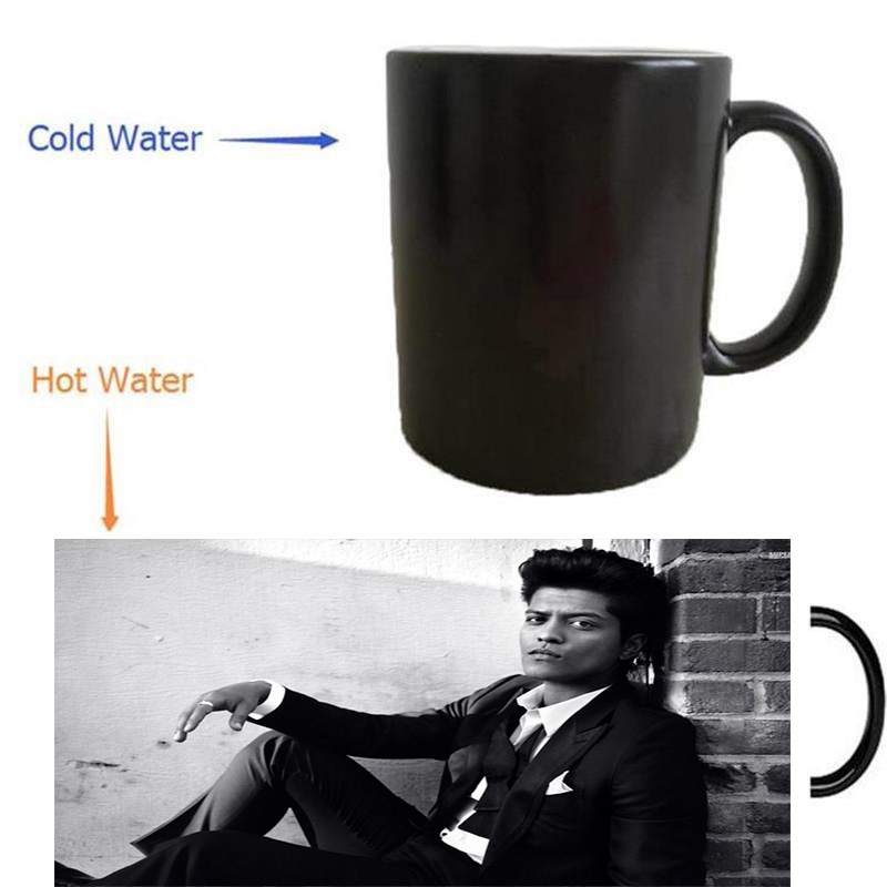 Bruno Mars mugs heat transfer change color Heat reveal mugs temperature color change travel heating