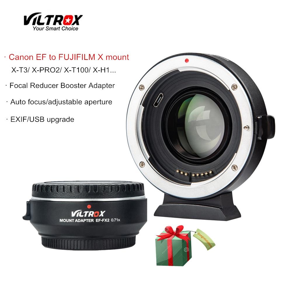 Viltrox EF-FX2 Riduttore di Focale Booster Auto-messa a fuoco dell'obiettivo Adattatore 0.71x per Canon EF lens per FUJIFILM X-T3 X-PRO2 X-T100 x-H1 X-A20