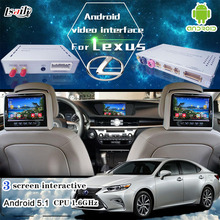 Android 5.1 6.0 GPS navigation box video interface for New Toyota & Lexus IS ES NX RX GX LX with GVIF cast screen