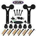 Y shaped Country Style 6ft / 8ft / 10ft / 12ft / 13ft /15ft /16ft Sliding Barn Door Hardware Rustic Black Sliding Kit