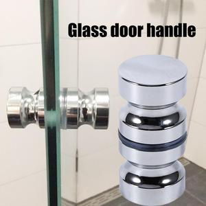 """Aluminum Alloy Door Handle 1.1"""" Dia Single Glass Door Knob Bathroom Shower Cabinet Handle w/ Screw Home Hardware(China)"""