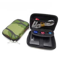 Camouflage Digital Accessories Case Travel Storage Bag for Mobile HDD, U Disk USB Cable Charger Portable Gadget Pocket EVA Pouch