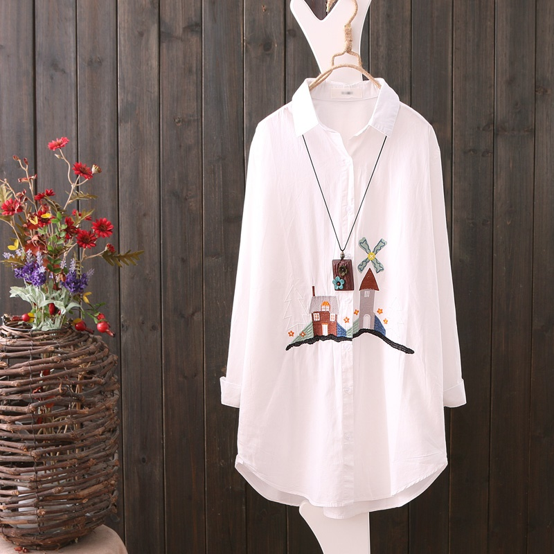 Blouses & Shirts Kimono Cardigan Women Embroidered Shirt Japanese Outfits Streetwear Chinese Ladies Top Summer Tops For Women 2019 Aa4690