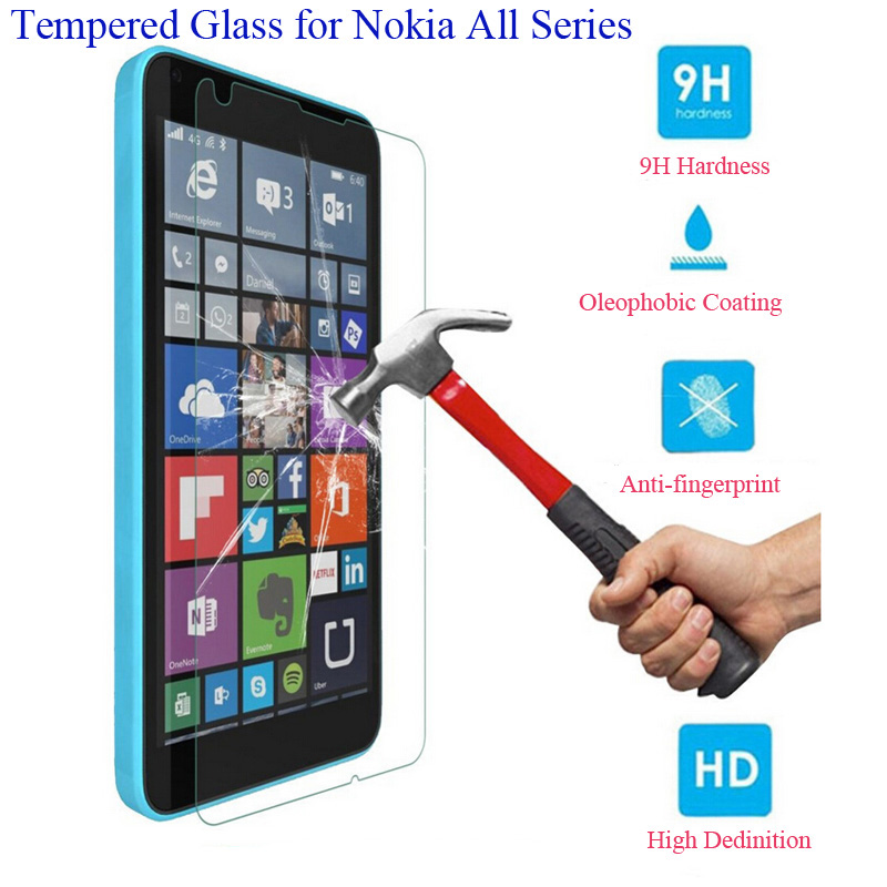 9H Tempered Glass Screen Protector Film For Nokia Lumia 640 630 535 520 525 530 540 550 625 635 640XL 720 730 830 920 930 950