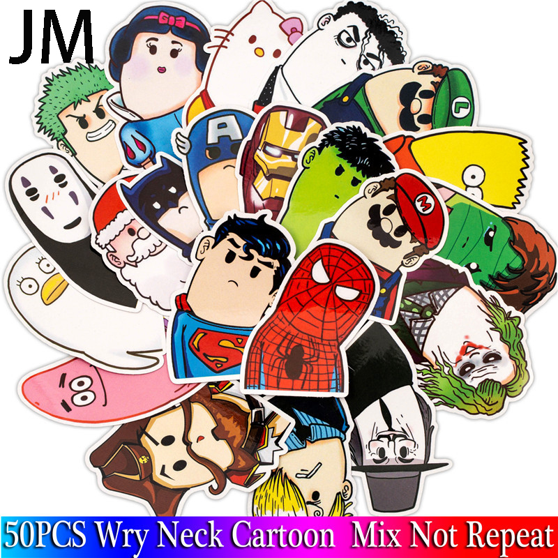 50Pcs Super Hero Marvel Stickers Pack Movies Character Sticker Cartoon Sticker DIY Skateboard Motorcycle Luggage Laptop image