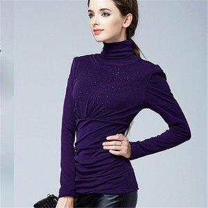 Image 4 - נשים עבה קטיפה באיכות גבוהה נשים אלגנטי אופנה חולצה חולצות סתיו חורף בתוספת גודל חם השפל חולצה Blusas חולצות