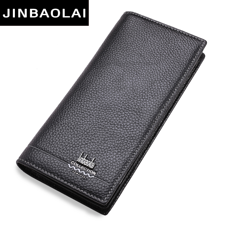 New Luxury Brand 100% Top Genuine Cowhide Leather High Quality Men Long Wallet Coin Purse Casual Designer Male Carteira Wallets bvp luxury brand weave plain top grain cowhide leather designer daily men long wallets purse money organizer j50