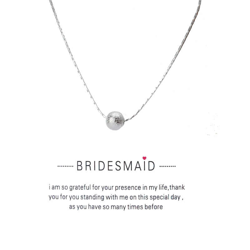 1 pc minimalistyczny luźne przekładki koraliki karta życzeń Choker Collier naszyjniki linki łańcuchy złota płyta dla kobiet oświadczenie biżuteria prezent