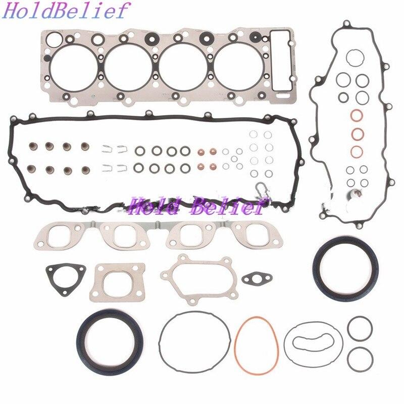 New Full Gasket Set Kit Fit For Isuzu 4HK1T 4HK1 TC Engine For JCB Excavator|Full Set Gaskets| |  - title=