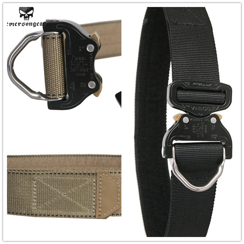 EmersonGear Cobra D-Ring Riggers Belt Surplus Tactical Heavy Duty Nylon CO bra Buckle Gun Pistol EDC Belt Tactical Waist Support ганг журнальный столик elit набор