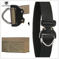 EmersonGear Cobra D Ring Riggers Belt Surplus Tactical Heavy Duty Nylon CO bra Buckle Gun Pistol EDC Belt Tactical Waist Support