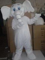 Professional New White Elephant Mascot Costume Fancy Dress Adult Size