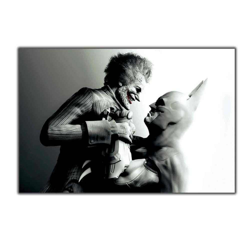 Joker Batman Arkham City-Film 12X18 Cm X 27X40 Seni Poster Sutra Dinding Kanvas cetak Modern Dekorasi