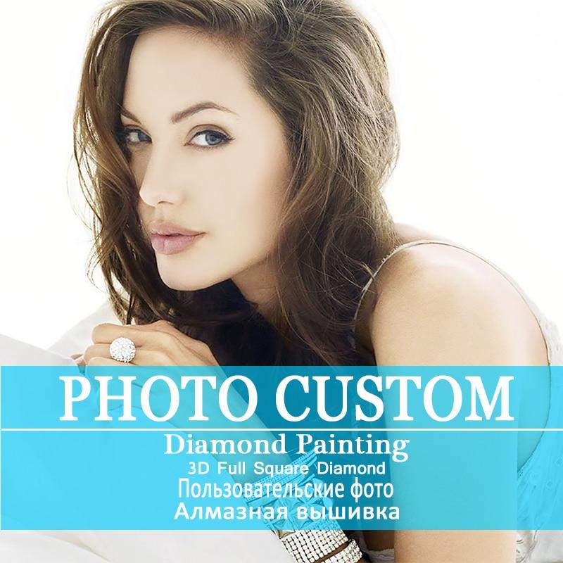 Фото на заказ! Частный заказ! 5D DIY алмазная живопись! Сделать свой собственный алмаз живопись полный алмазов квадратный бриллиантовый горны...