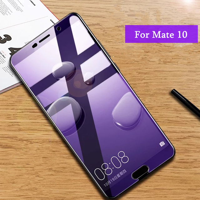 2Pcs/lot Full Tempered Glass For Huawei Mate 10 Screen Protector 0.26mm 9H...