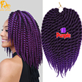 12inch Havana Mambo Twist Crochet Braids Hair Jumbo Kanekalon Synthetic Braiding Hair Thick Senegalese Twist Crochet Box Braids