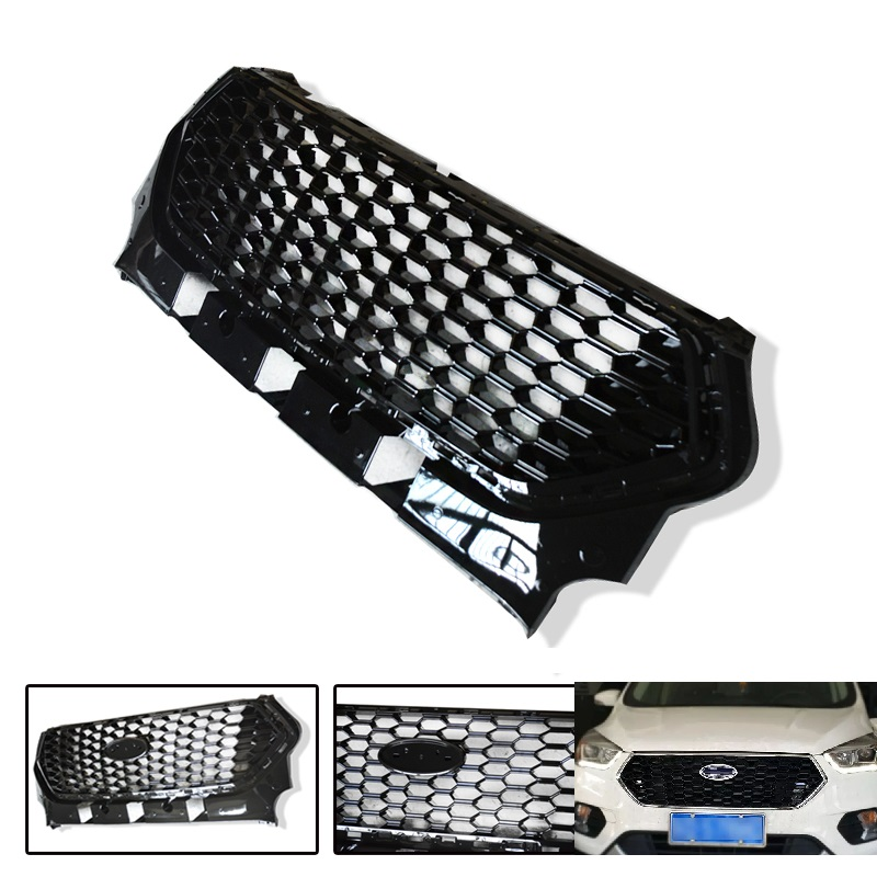 CITYCARAUTO FRONT RACING GRILL GRILLS BUMPER MASK FIT FOR FORD KUGA ESCAPE 2017 2018 CAR GRILLE