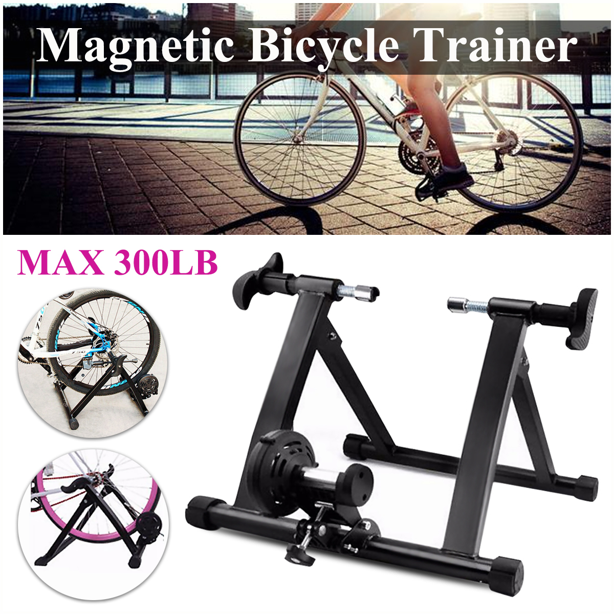 все цены на Road MTB Bicycle Trainer Indoor Exercise Bike Trainer Home Training Adjustable Magnetic Resistance Cycling Trainer Stand Roller