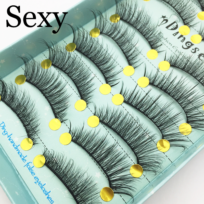 10 Pairs Handmade 3D Soft Faux Mink Hair False Eyelashes Crisscross Wispy Fluffy Lashes Extension Eye Makeup Tools #3D-70