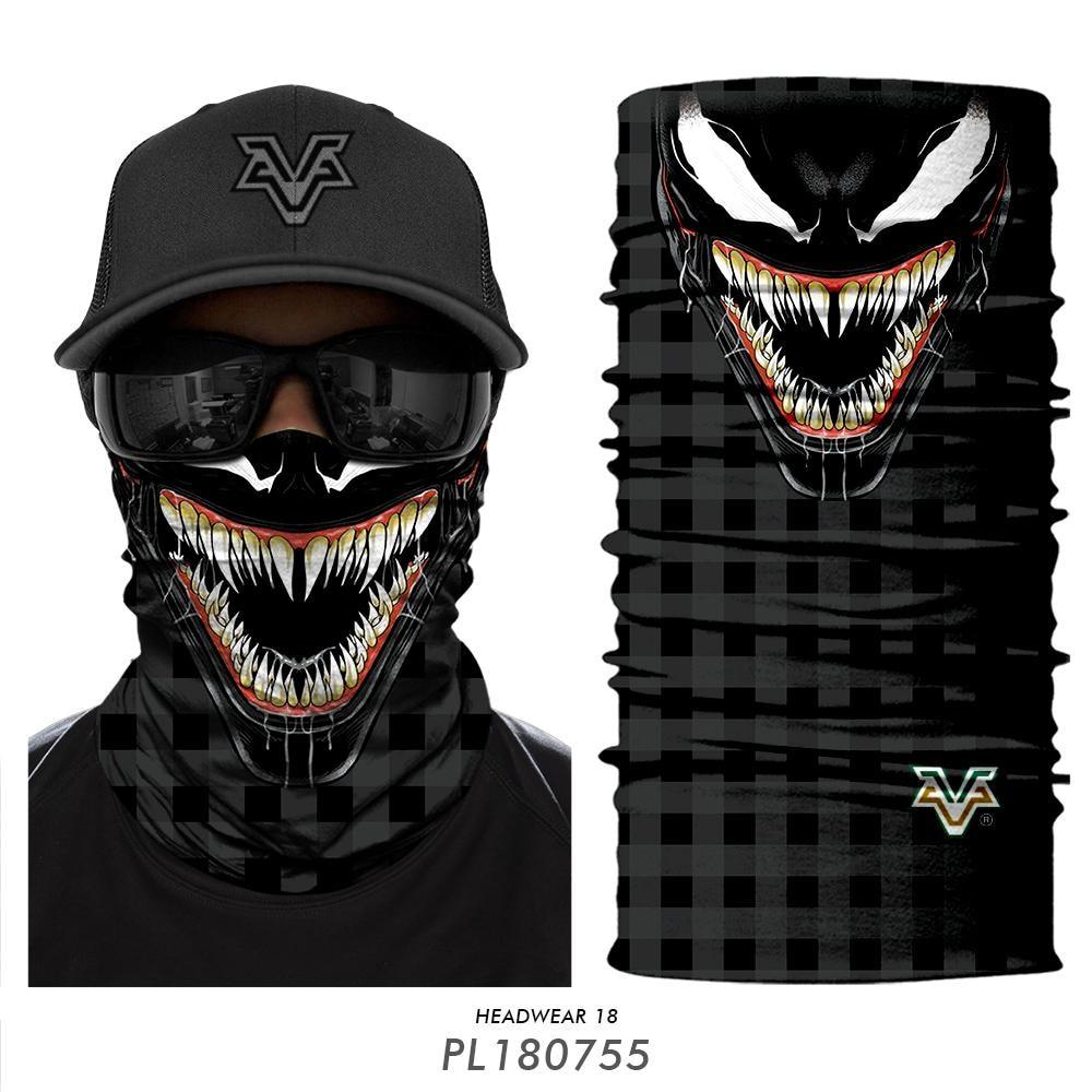 Scarfs Headband Face-Mask Gaiter Bandanas-Neck Venom-Tube Skull Cosplay Hunting Yoga