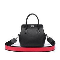 Women Genuine Leather Shoulder Handbag Natural Skin Doctor Bag Designer Brand New Purse Fashion Satchel Vintage Lady Messenger